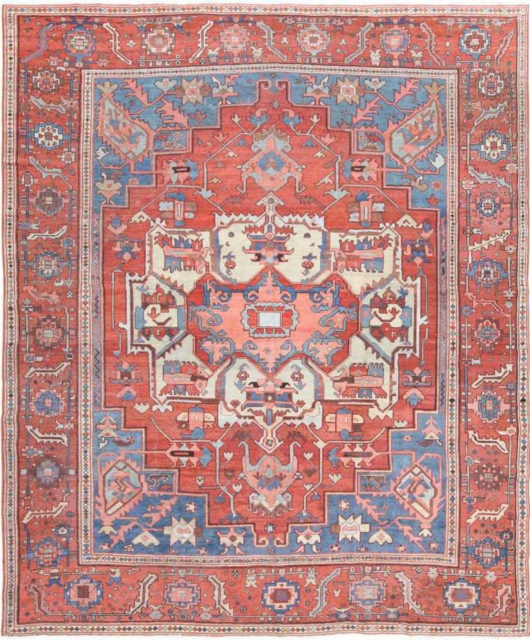 Antique Persian Serapi Rug 48240 Nazmiyal