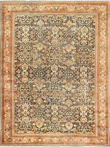 antique shabby chic mahal persian rug 49442 Nazmiyal