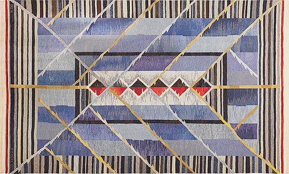 Handmade Vintage Scandinavian Kilim Rug by Nazmiyal