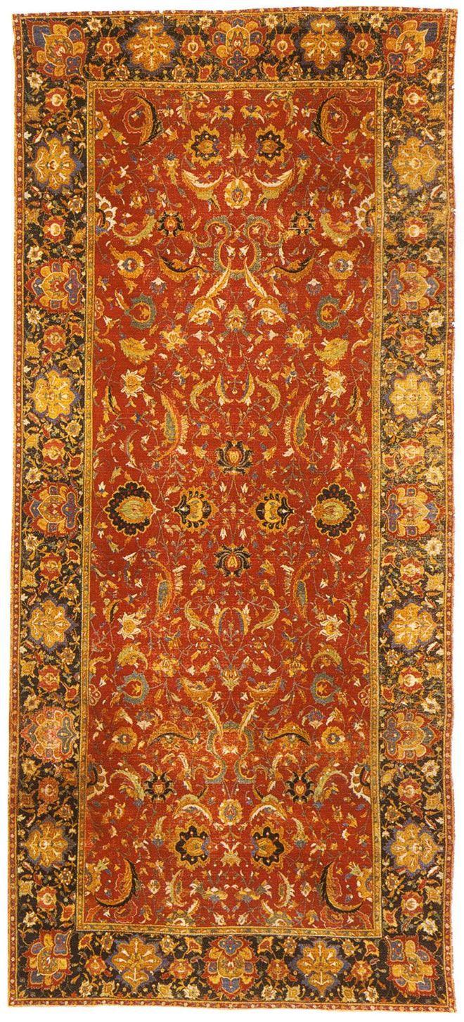 Antique Mughal Rugs by Nazmiyal