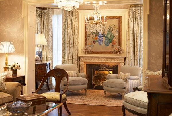 Interior Design With Antique Oriental Carpet by Nazmiyal
