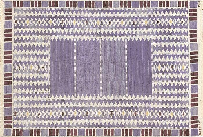 Swedish Kilim Rug by Barbro Nilsson - Nazmiyal
