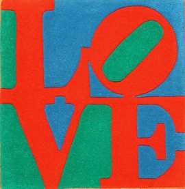 modern classic love indian rug by robert indiana 49470 Nazmiyal