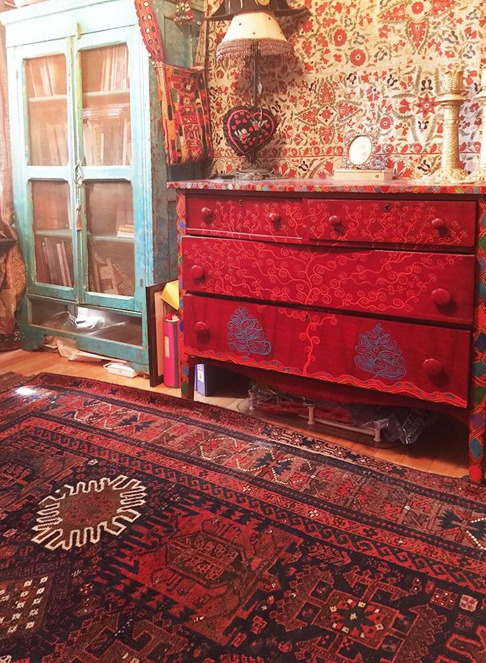 Antique Tribal Persian Baluch rug Nazmiyal