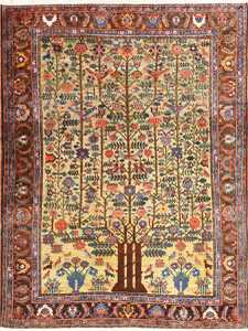 Artistic Small Antique Tabriz Persian Tree of Life Design Rug 48616 by Nazmiyal