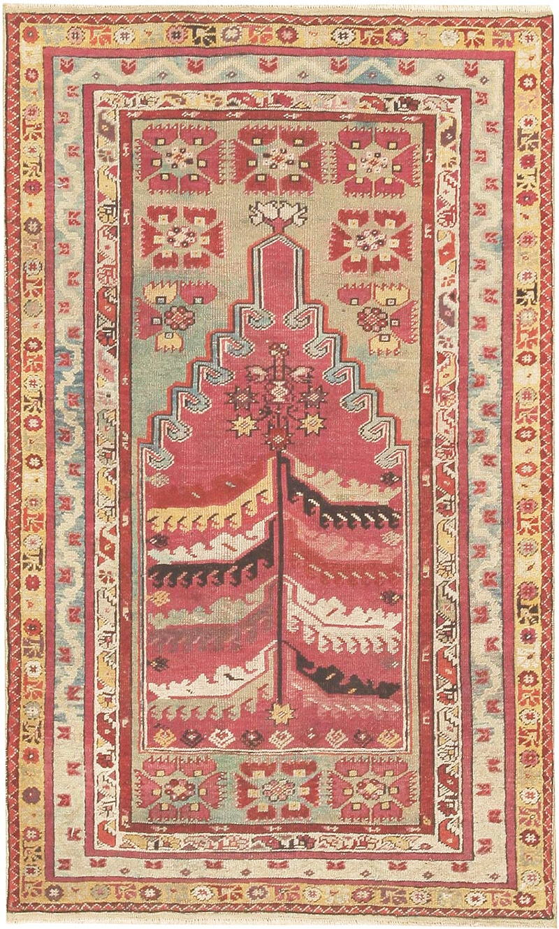 Turkish Milas Prayer Rug