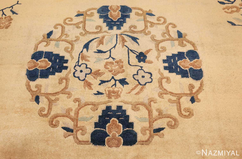 antique cream background chinese rug 49480 medallion Nazmiyal