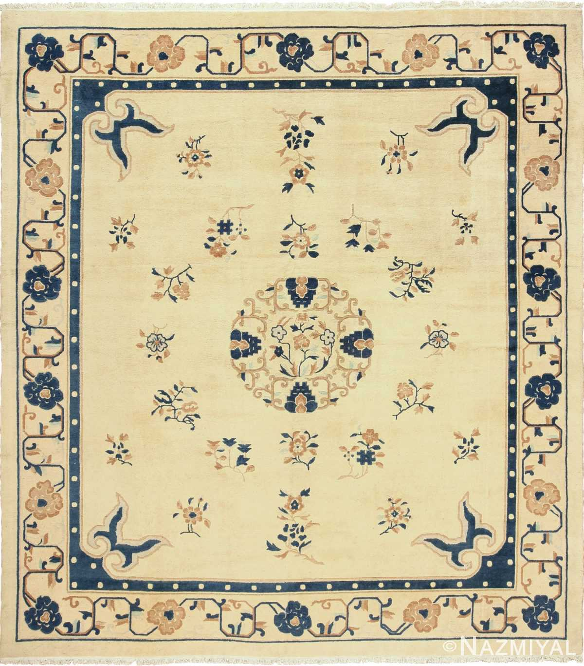 antique cream background chinese rug 49480 Nazmiyal