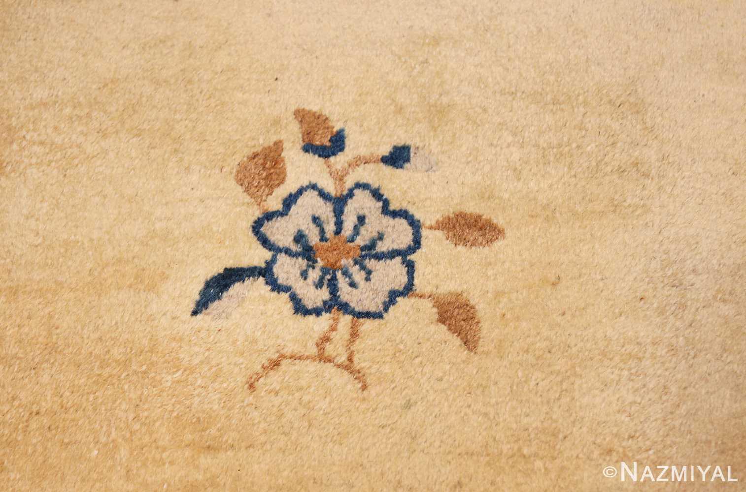 antique cream background chinese rug 49480 tiny Nazmiyal