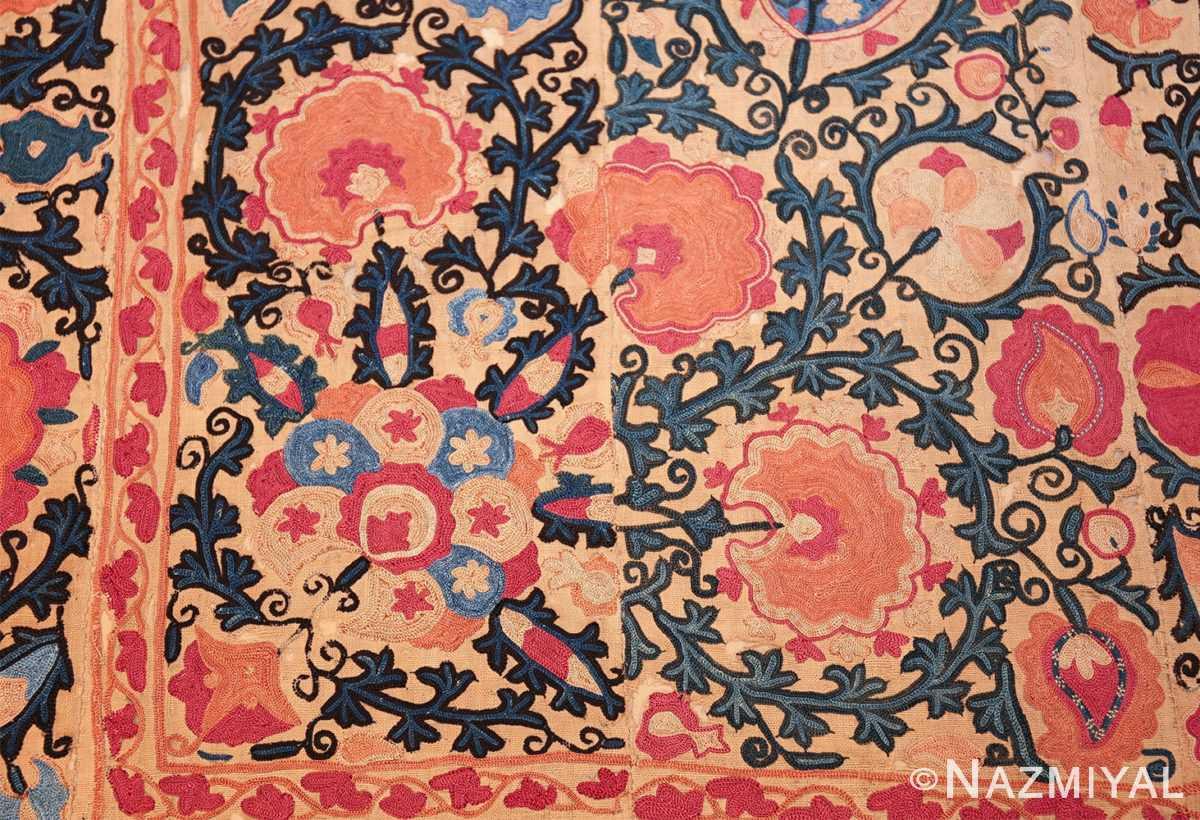 antique floral suzani uzbek textile 49460 flower Nazmiyal