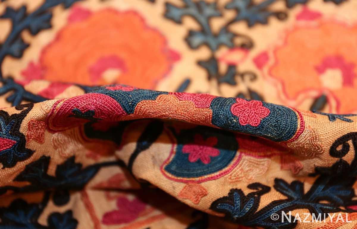 antique floral suzani uzbek textile 49460 pile Nazmiyal