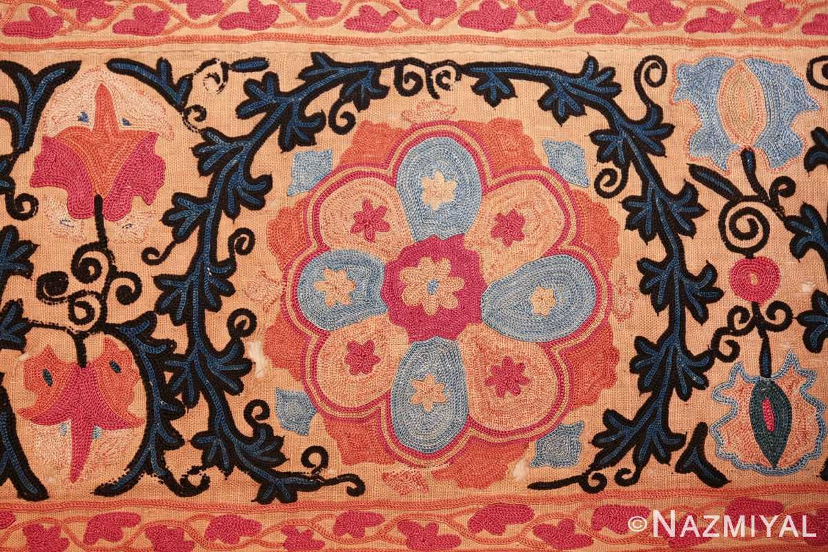 antique floral suzani uzbek textile 49460 weaving Nazmiyal