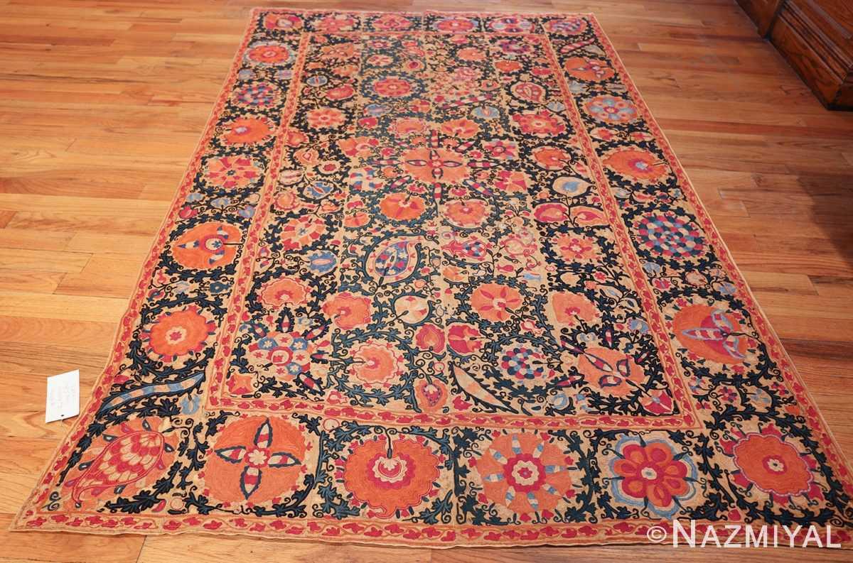 antique floral suzani uzbek textile 49460 whole Nazmiyal