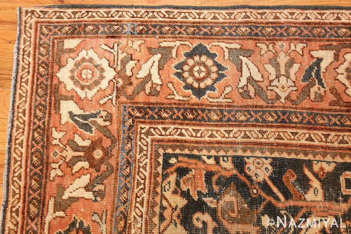 antique shabby chic mahal persian rug 49442 corner Nazmiyal
