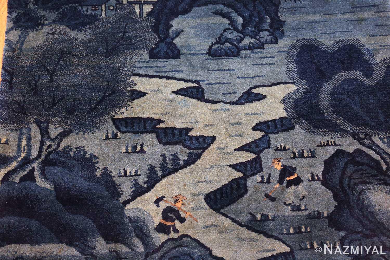 antique small chinese rug 49464 field Nazmiyal