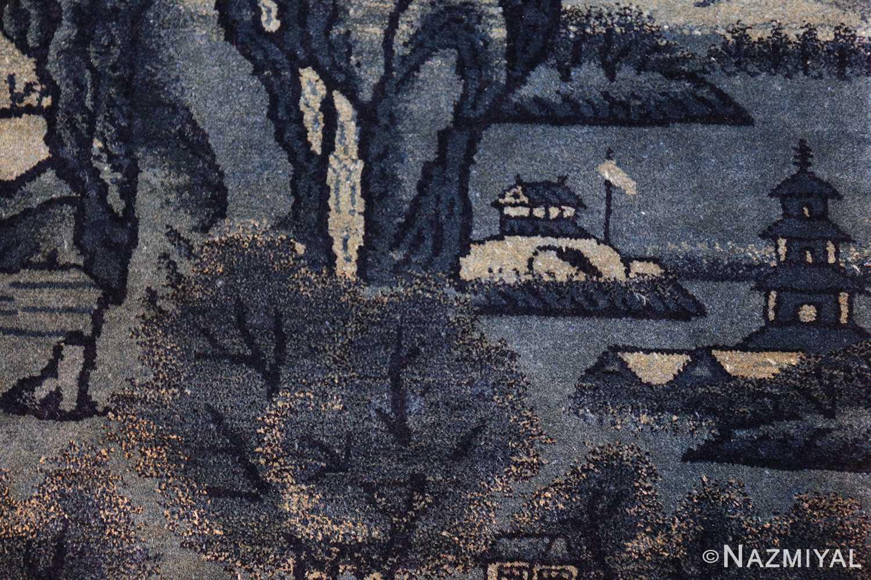 antique small chinese rug 49464 lake Nazmiyal
