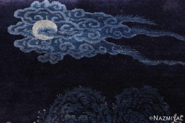 antique small chinese rug 49464 moon Nazmiyal