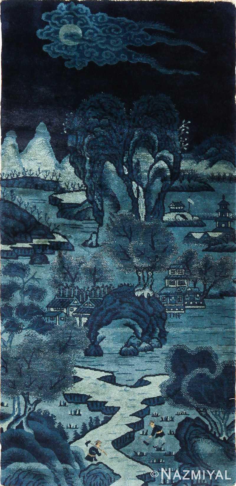 antique small chinese rug 49464 Nazmiyal