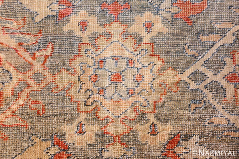 grayish background antique persian sultanabad rug 49388 yellow flower Nazmiyal