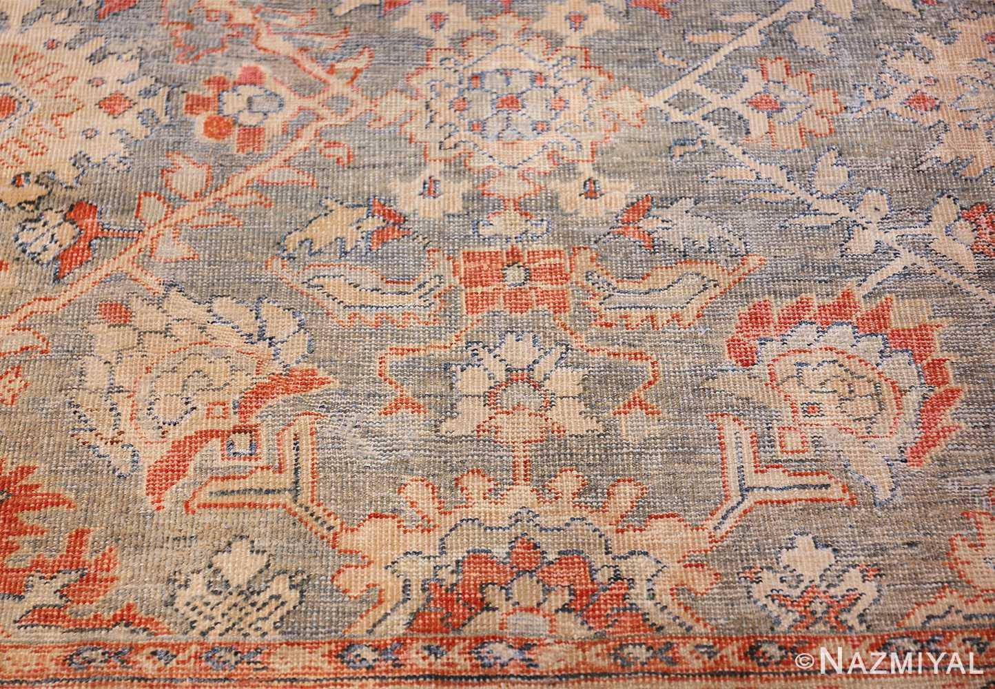 grayish background antique persian sultanabad rug 49388 center Nazmiyal