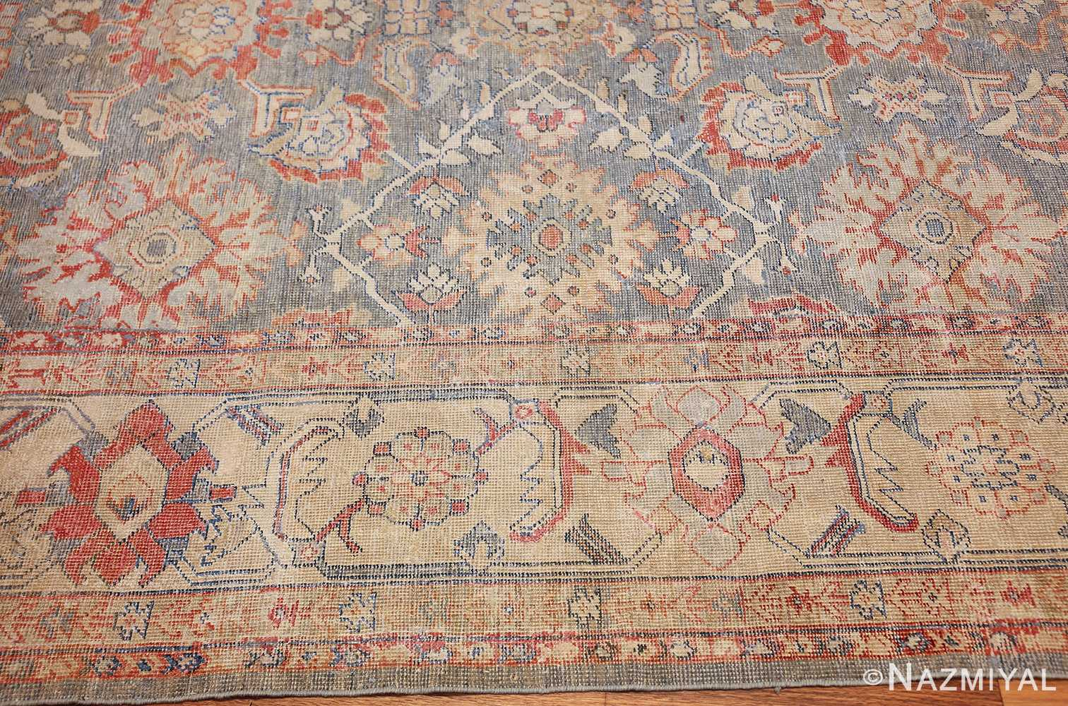 grayish bakground antique sultanabad persian rug 49388 border Nazmiyal