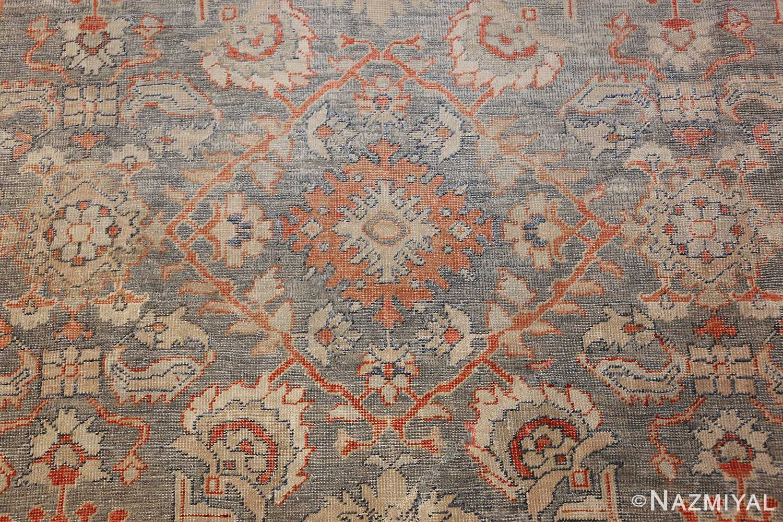 grayish bakground antique sultanabad persian rug 49388 center Nazmiyal
