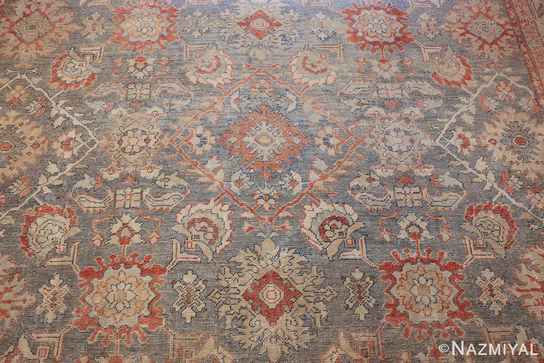 grayish bakground antique sultanabad persian rug 49388 field Nazmiyal