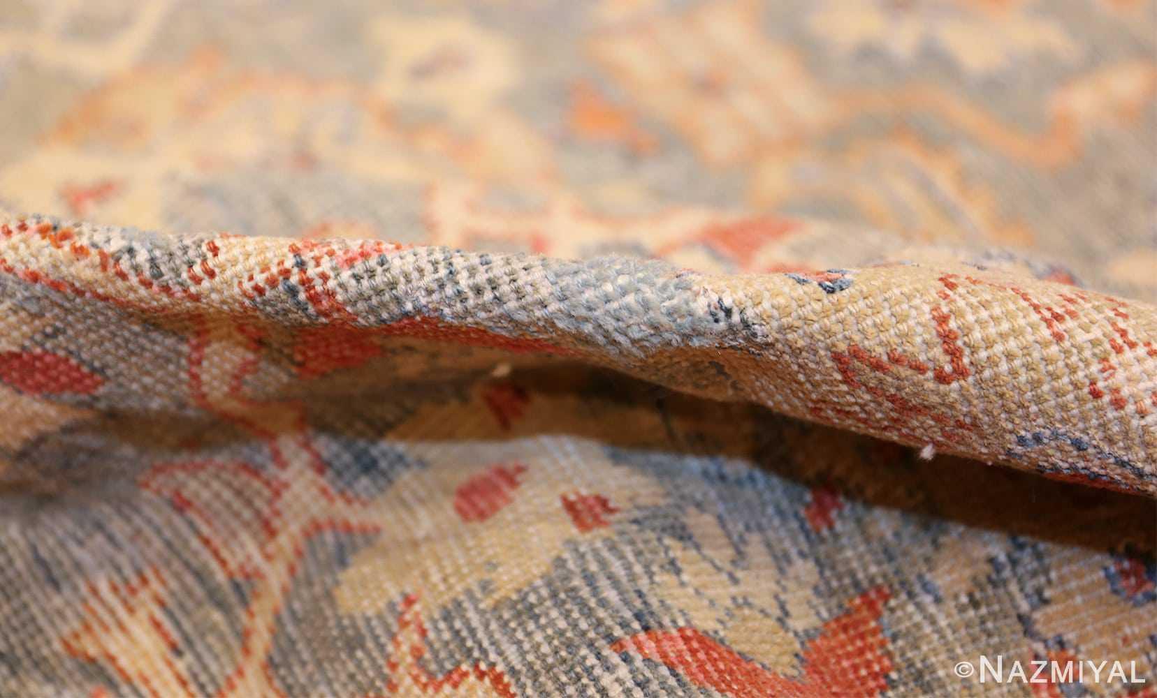 grayish bakground antique sultanabad persian rug 49388 pile Nazmiyal