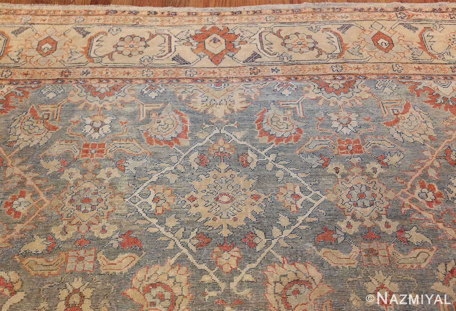 grayish bakground antique sultanabad persian rug 49388 top Nazmiyal