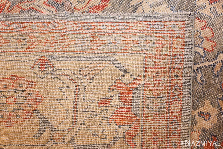 grayish bakground antique sultanabad persian rug 49388 weave Nazmiyal