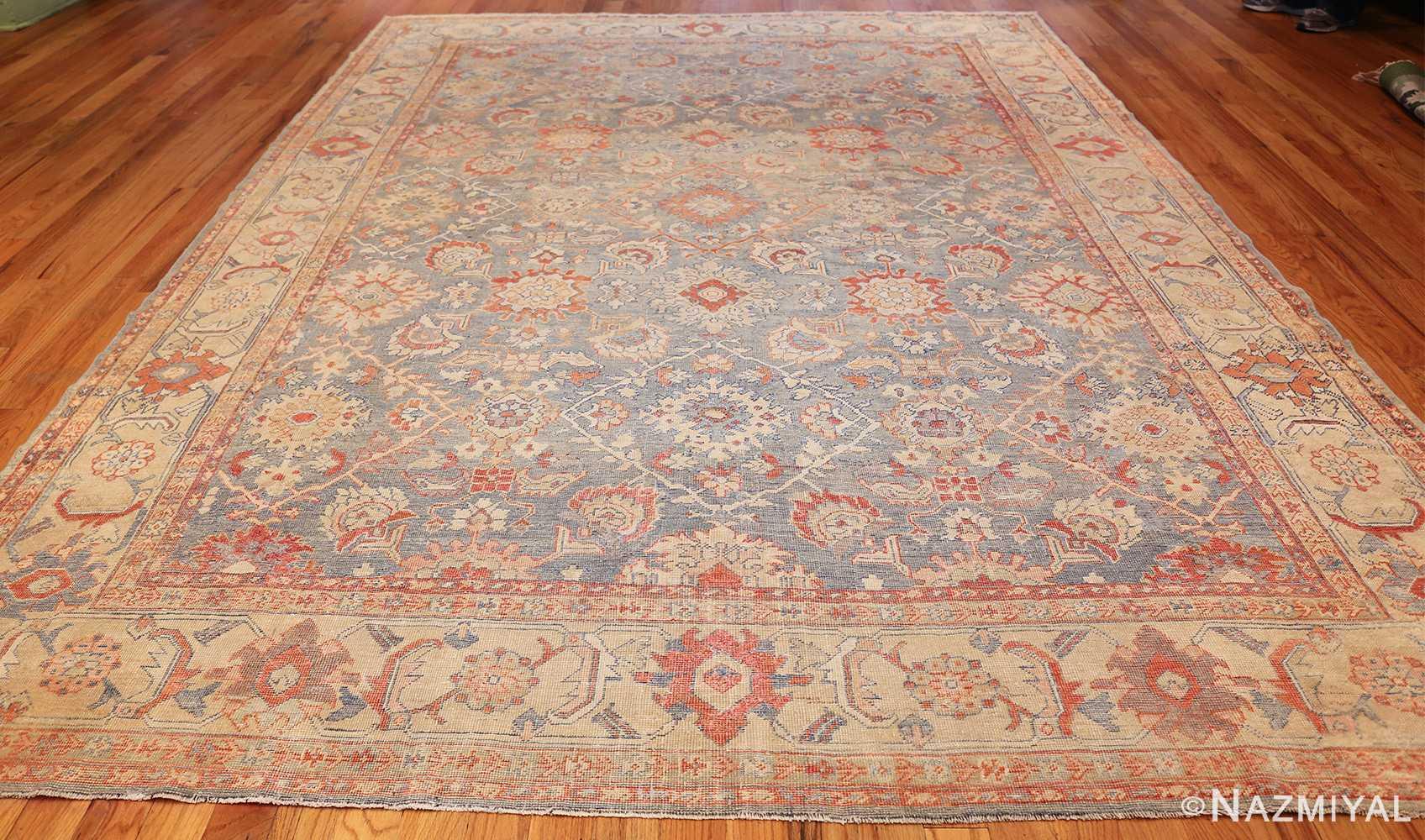 grayish bakground antique sultanabad persian rug 49388 whole Nazmiyal