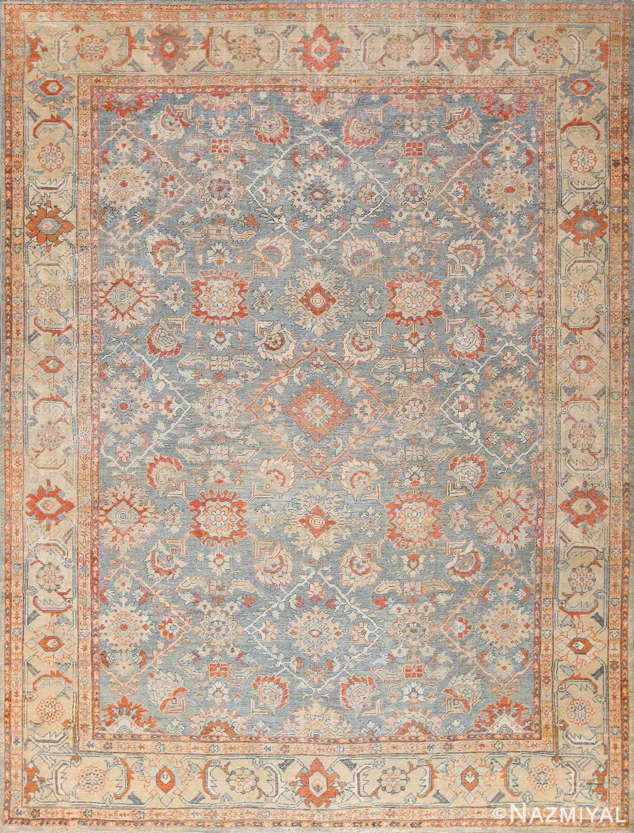 grayish background antique sultanabad persian rug 49388 Nazmiyal