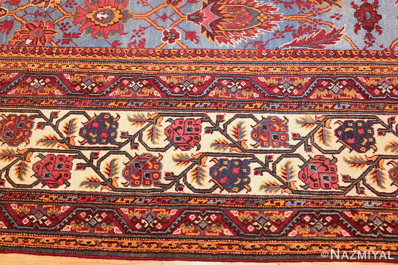 large blue antique agra indian rug 49048 border Nazmiyal