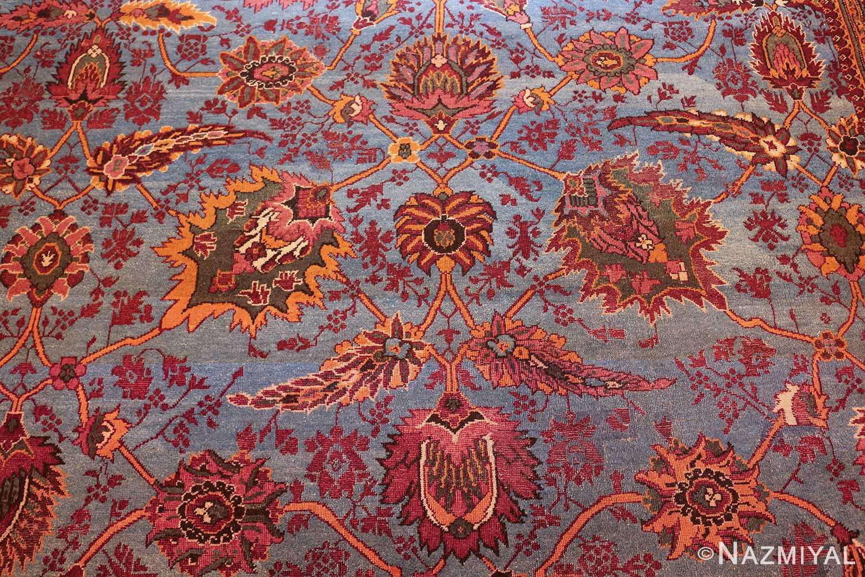 large blue antique agra indian rug 49048 field Nazmiyal