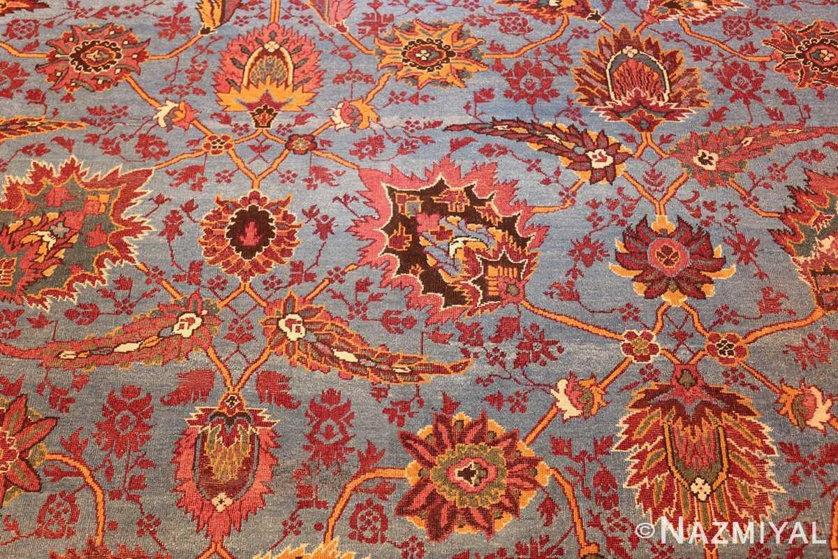 large blue antique agra indian rug 49048 middle Nazmiyal