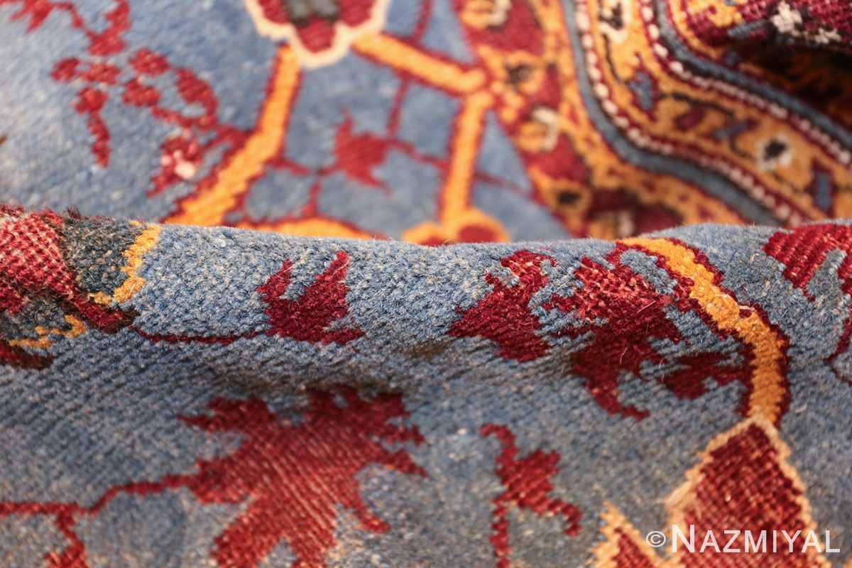 large blue antique agra indian rug 49048 pile Nazmiyal
