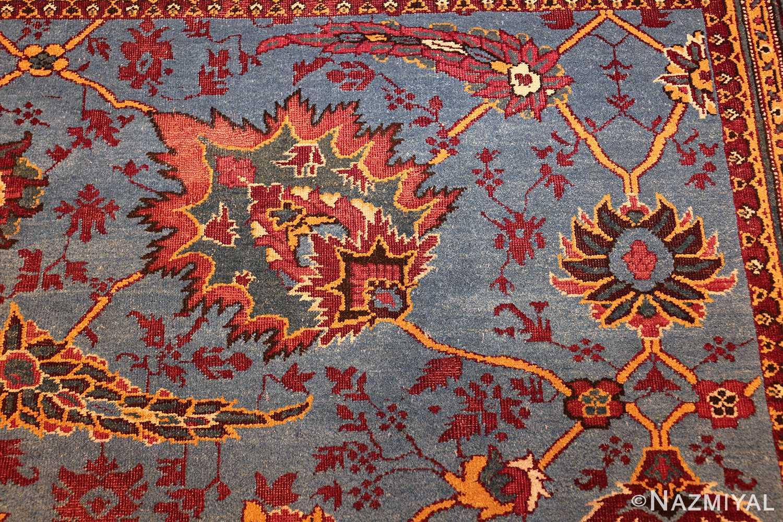 large blue antique agra indian rug 49048 side Nazmiyal