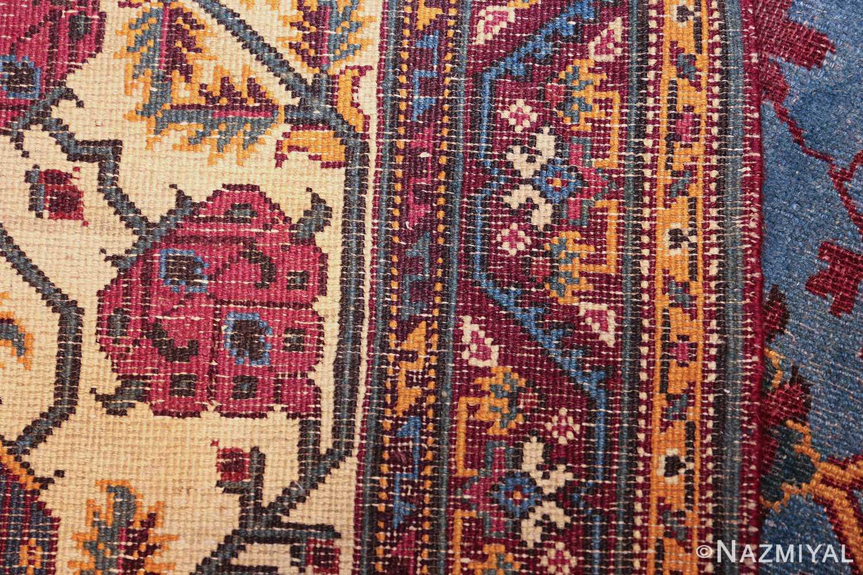 large blue antique agra indian rug 49048 weave Nazmiyal