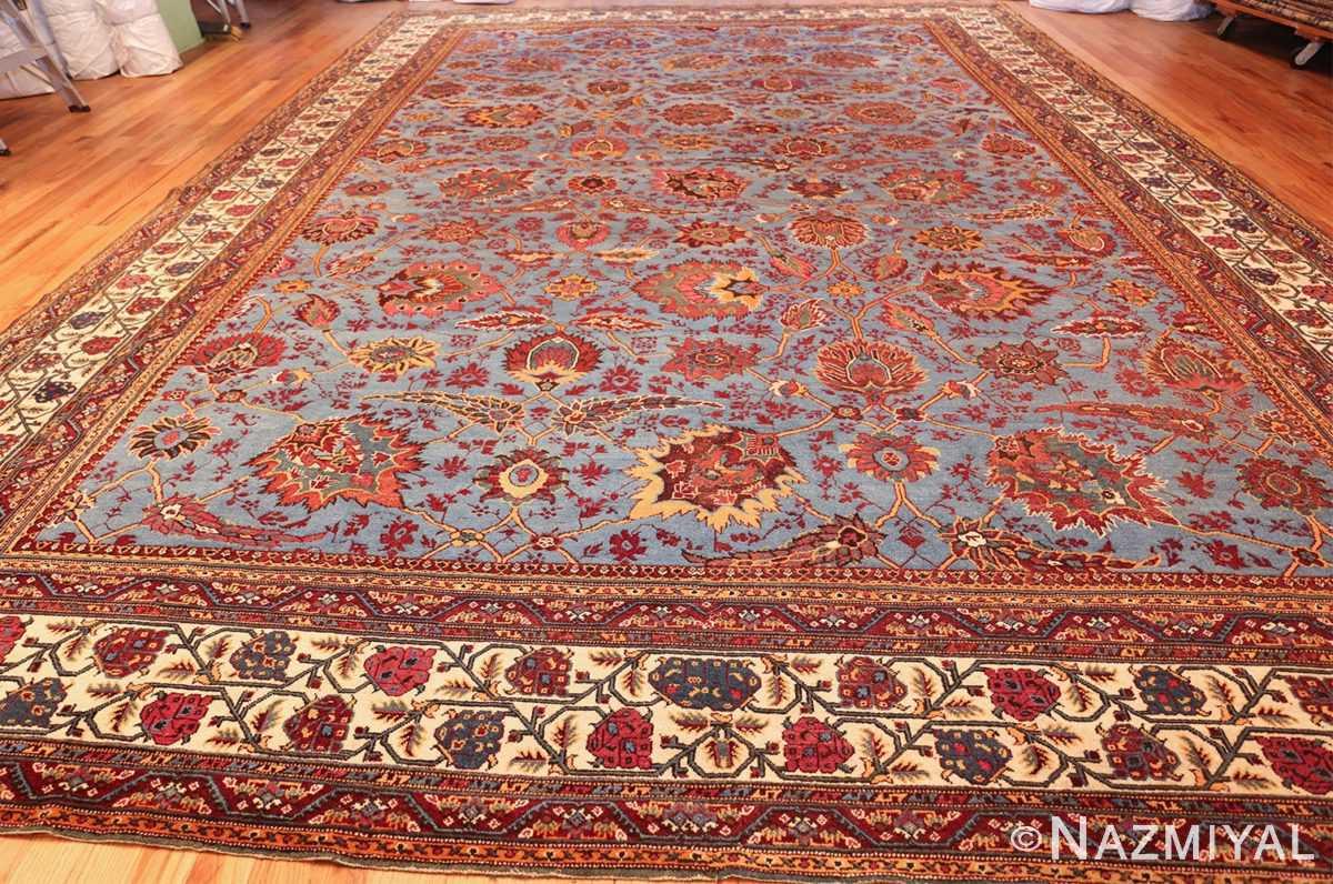 large blue antique agra indian rug 49048 whole Nazmiyal
