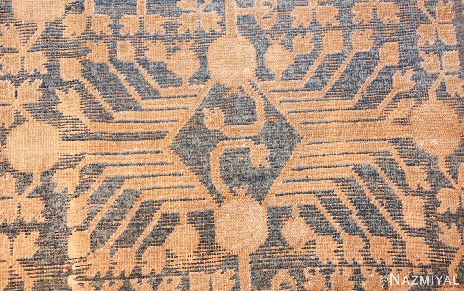 light blue antique khotan rug 49449 closeup Nazmiyal