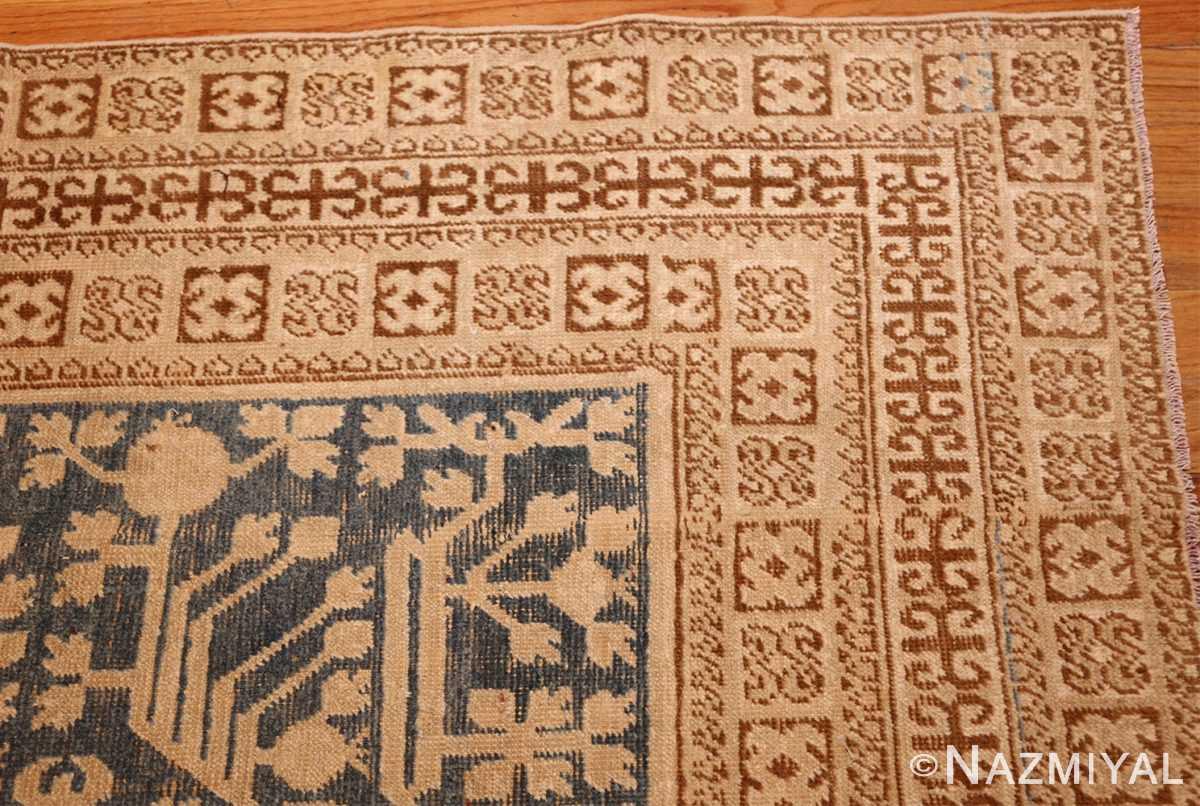 light blue antique khotan rug 49449 corner Nazmiyal