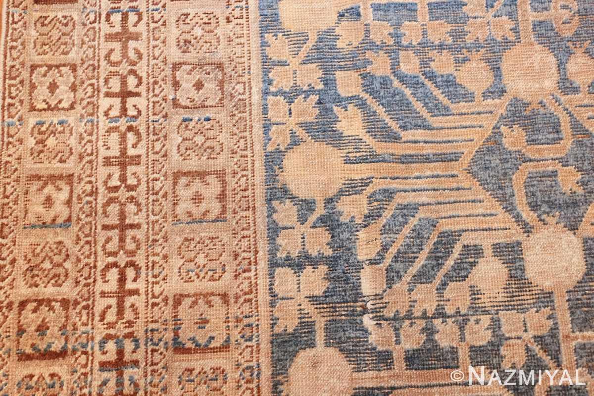 light blue antique khotan rug 49449 side Nazmiyal