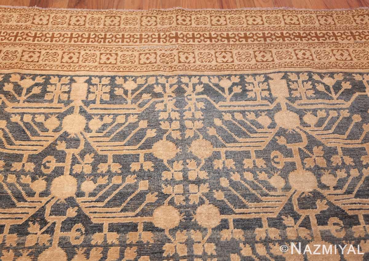 light blue antique khotan rug 49449 top Nazmiyal