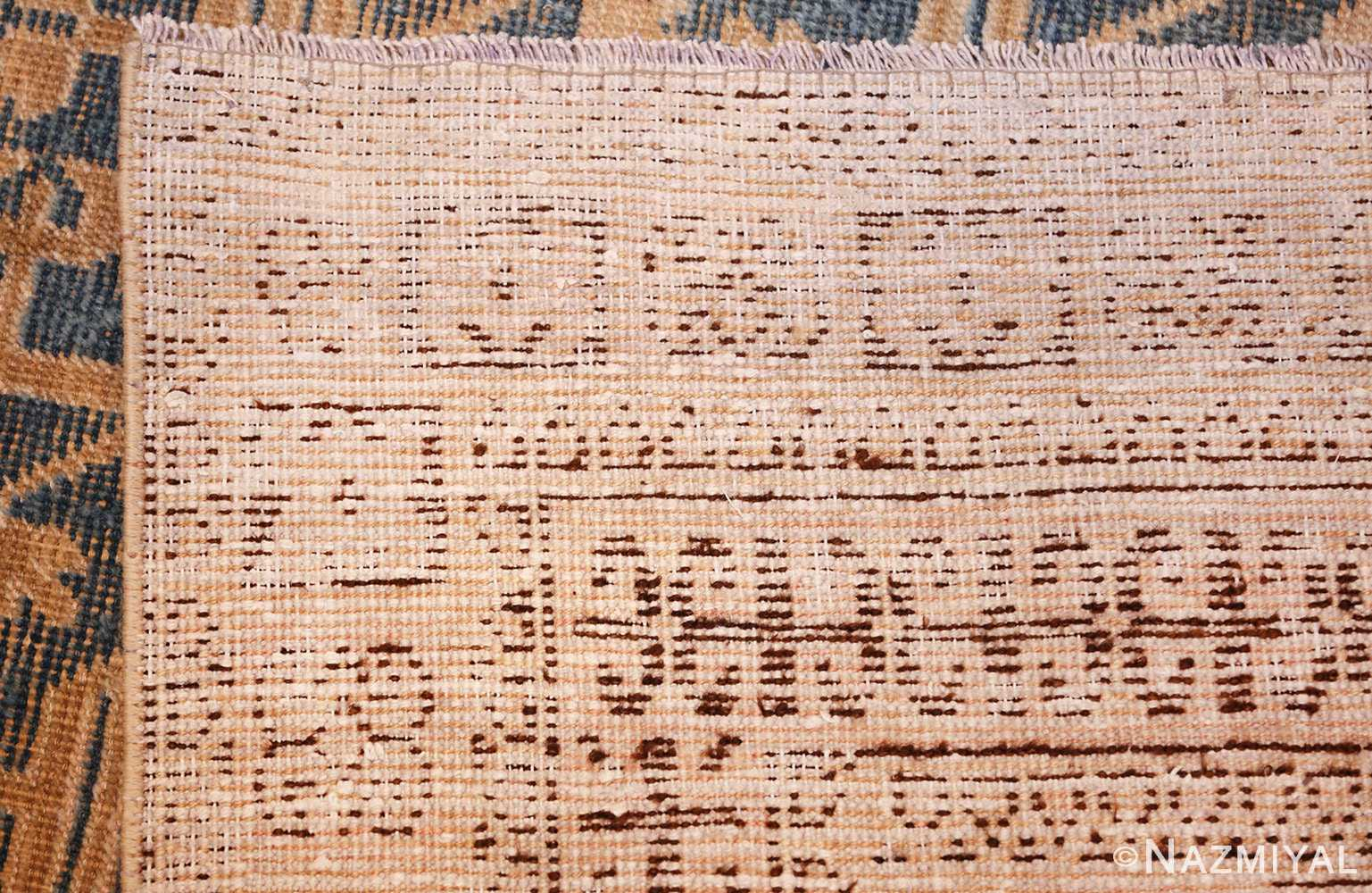 light blue antique khotan rug 49449 weave Nazmiyal