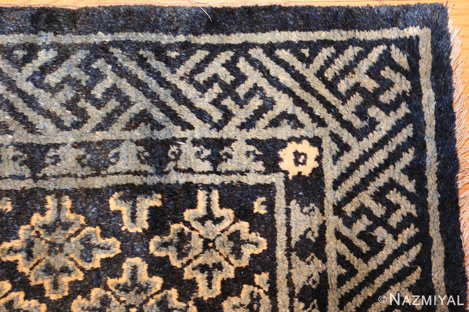 small scatter size antique chinese rug 49463 corner Nazmiyal