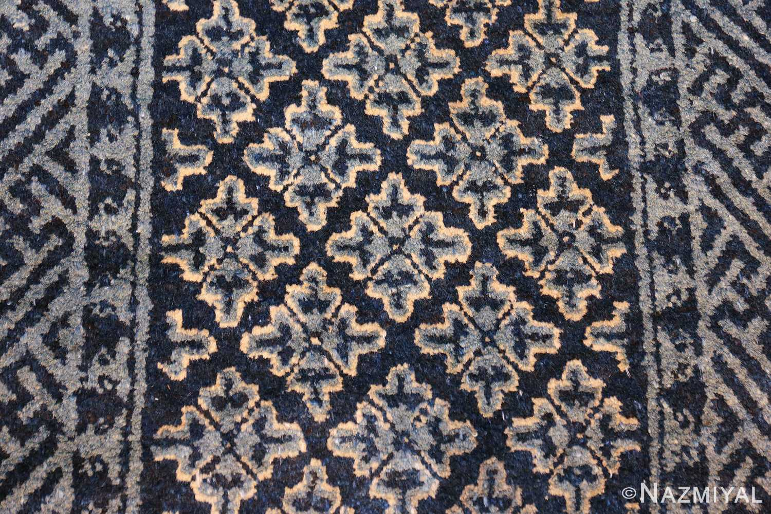 small scatter size antique chinese rug 49463 field Nazmiyal