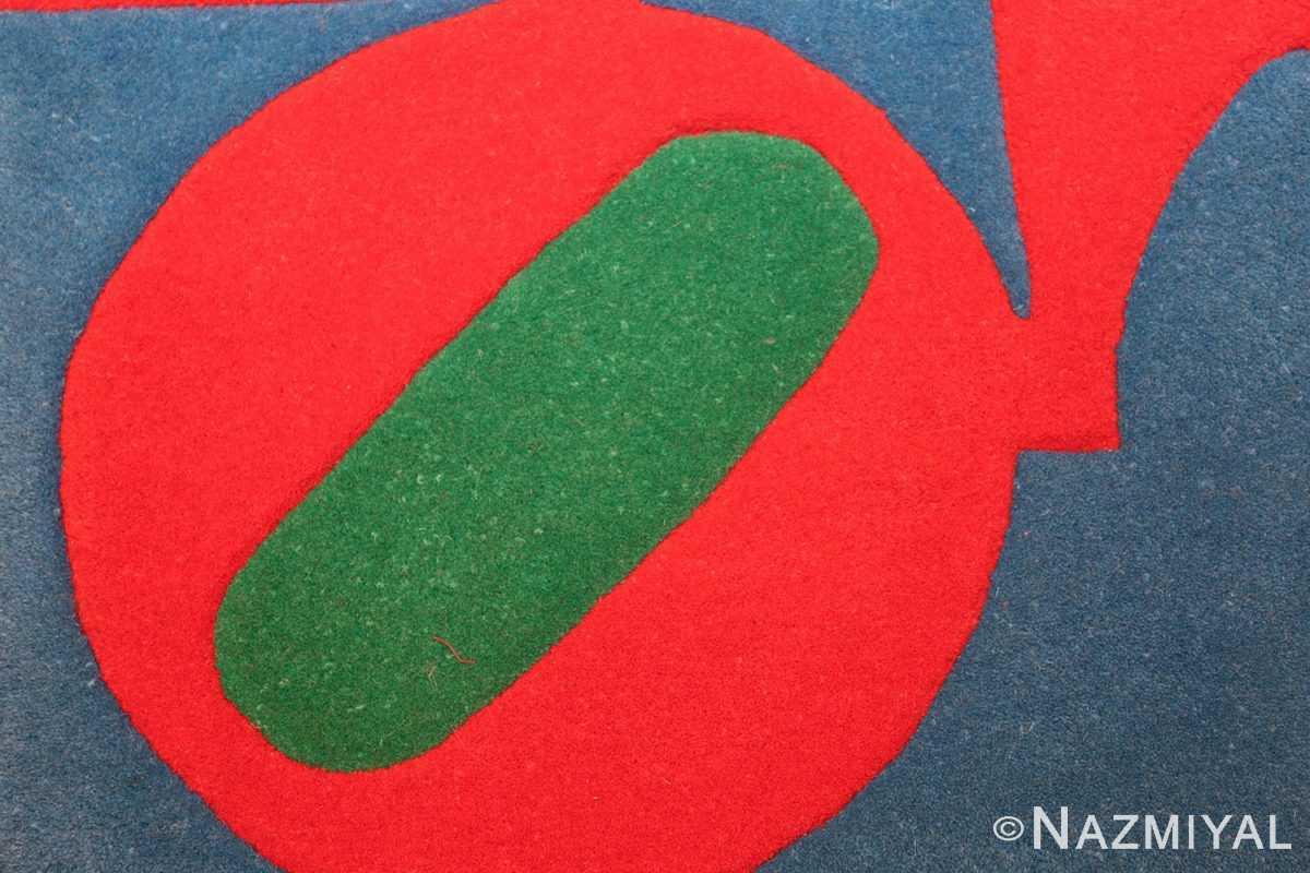 small vintage love rug by robert indiana 49470 circle Nazmiyal
