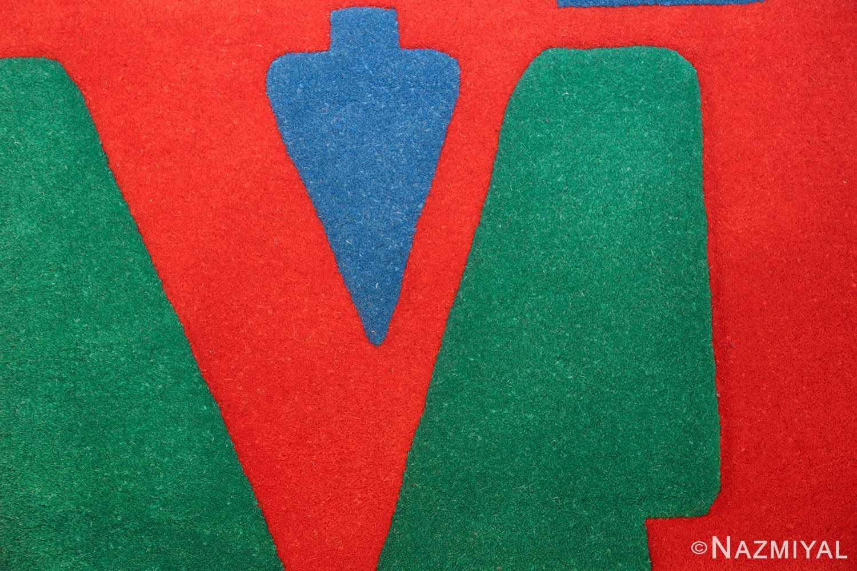 small vintage love rug by robert indiana 49470 pattern Nazmiyal