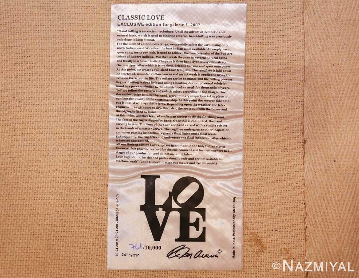 small vintage love rug by robert indiana 49470 tag Nazmiyal