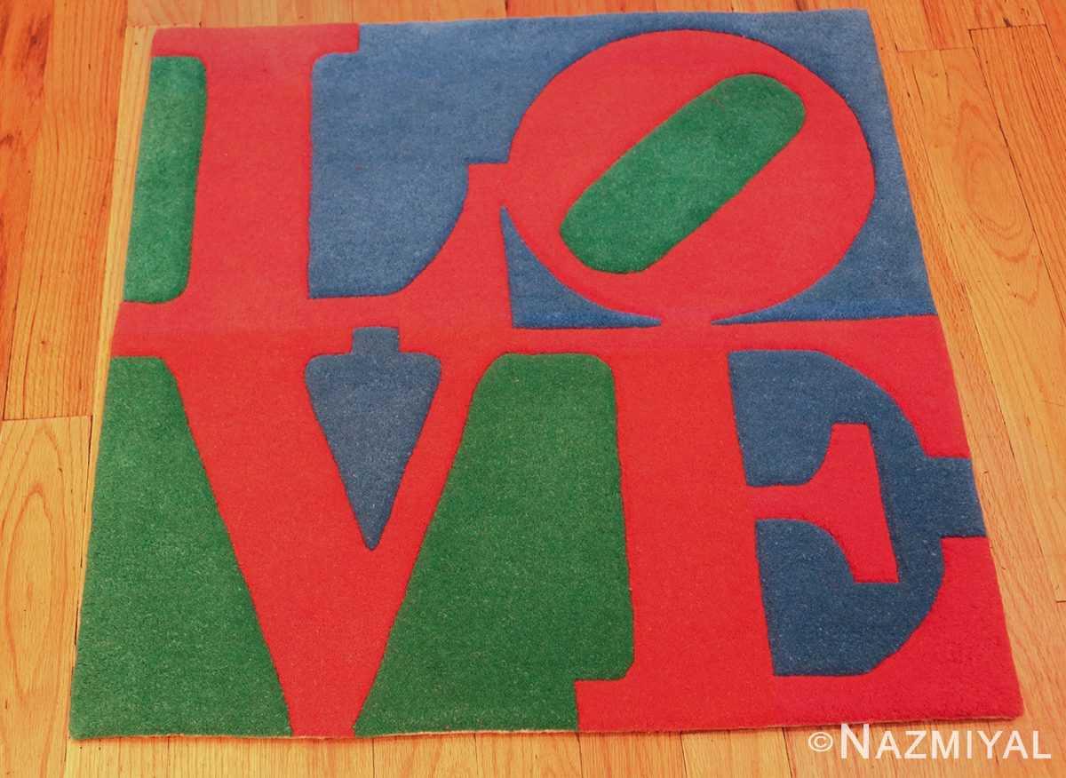small vintage love rug by robert indiana 49470 whole Nazmiyal